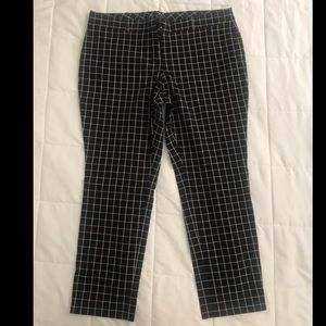 Checkered black dress pants